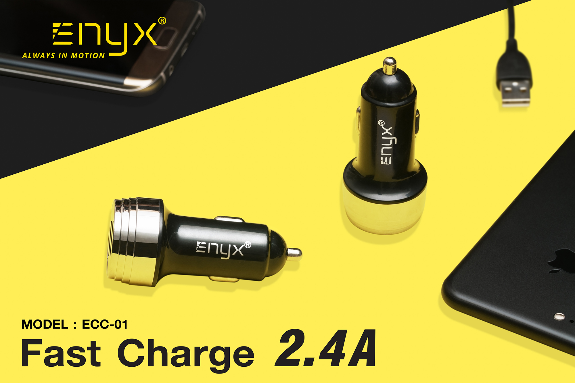 คาร์ชาร์จ Carcharger ที่จุดบุหรี่ อะแดปเตอร์ adapter หัวชาร์จ ที่ชาร์จ Enyx อีนิกซ์