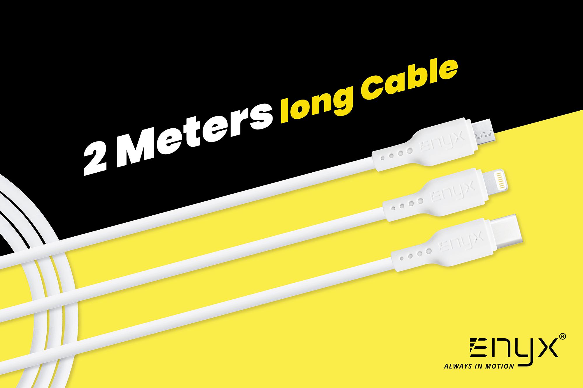 สายชาร์จ ENYX 2.1A Usb Cable อีนิกซ์ fast charge 2m 2เมตร