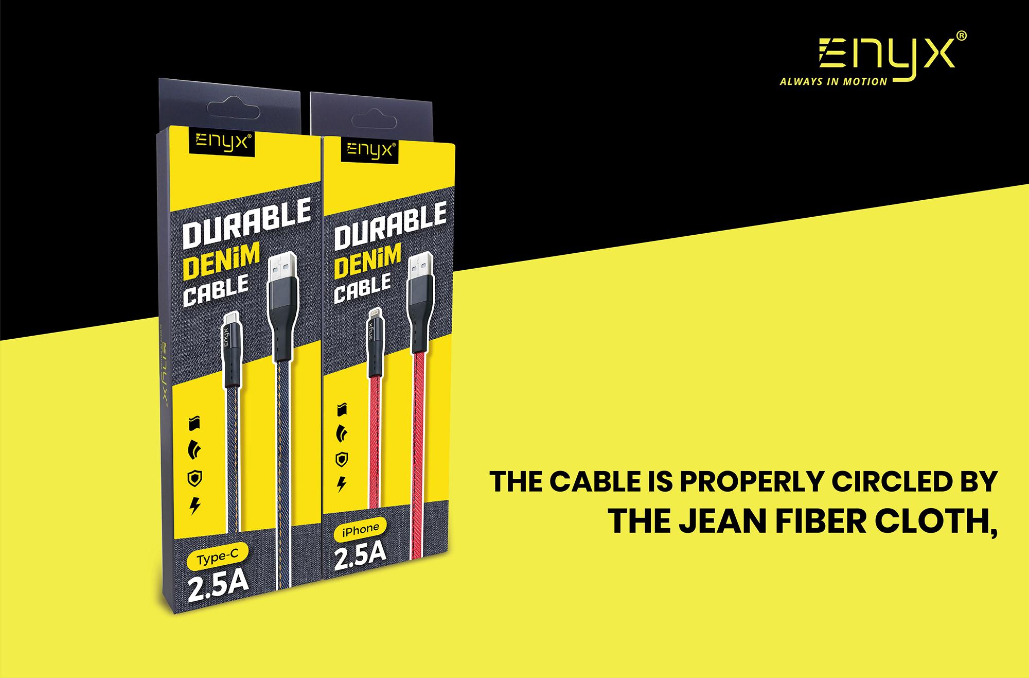 สายชาร์จ ENYX 2.5A Usb Cable อีนิกซ์ fast charge Jean ยีนส์
